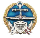 """Фрачный значок """"Почетный член РОО ССВП"""""""