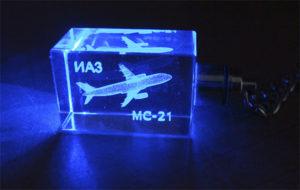"""Брелок с 3D гравировкой и подсветкой """"ИАЗ МС-21"""""""