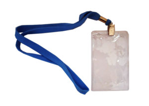 бейдж ID со шнурком (ланьярдом) и клипсой