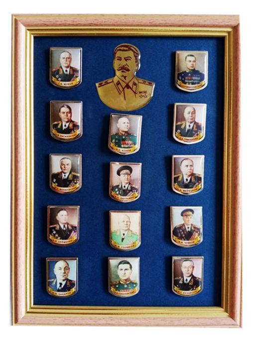 Набор значков в багетной рамке