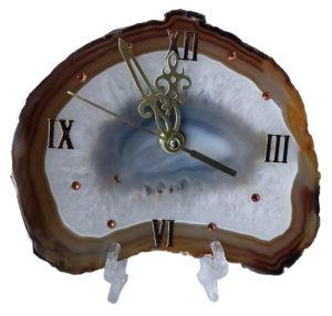 """Подарочный сувенир """"Часы на агате"""""""