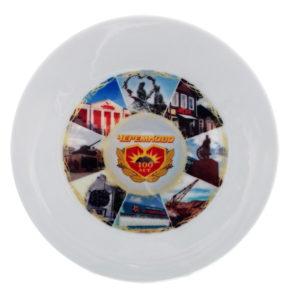 Тарелка с нанесением вашей символики. изображения