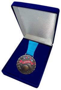 Медаль на ленте в бархатном футляре